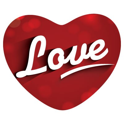 Love καδιά με λευκά γράμματα