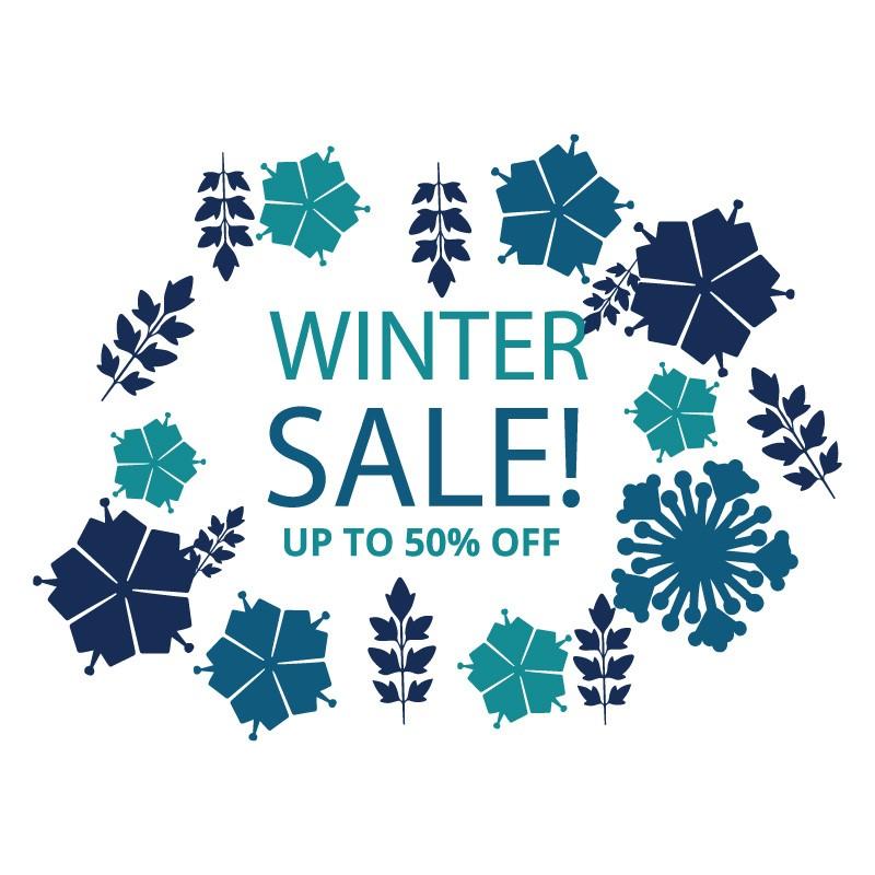 Μπλε Νιφάδες Winter Sale