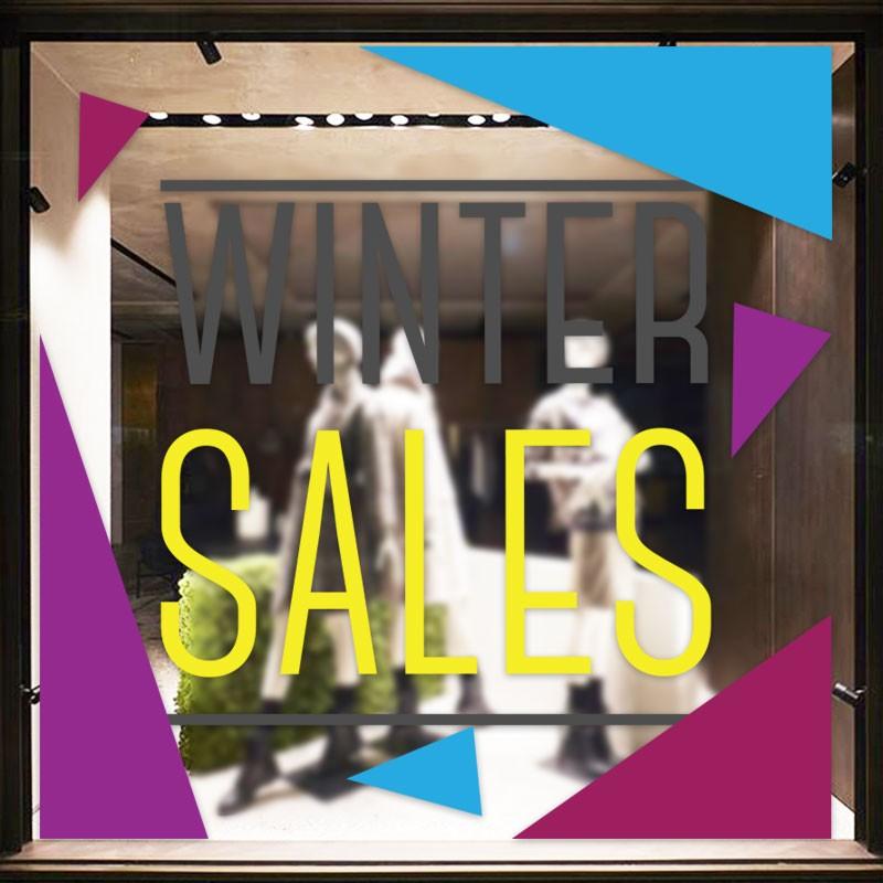 Μωβ-μπλε Winter Sales