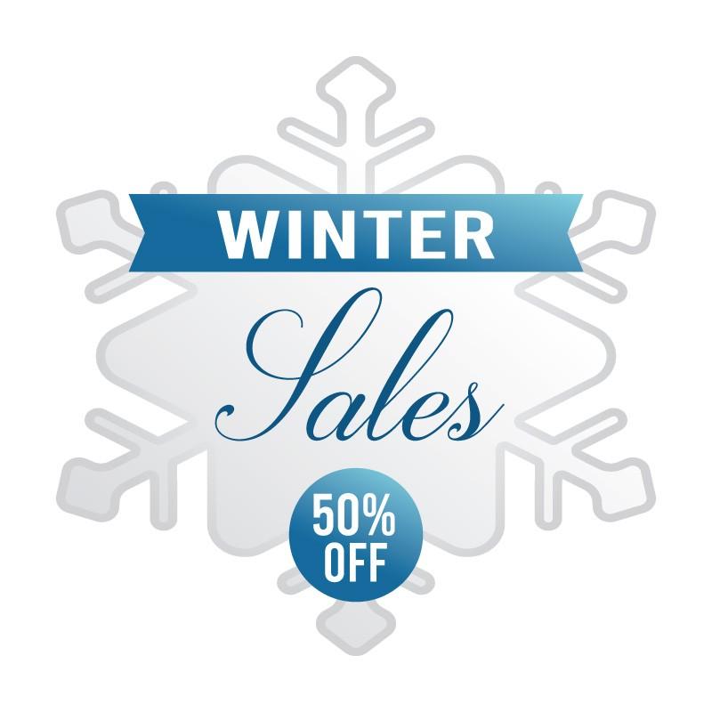 Winter Sales Snowflake 50%