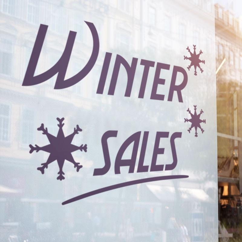Winter Sales Snowflakes