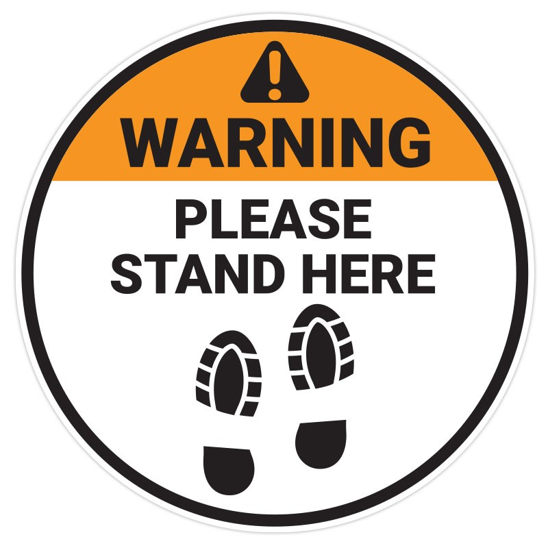 Please Stand Here Bootprint