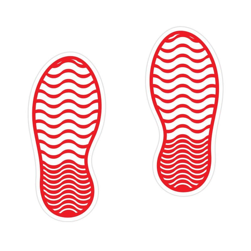 Shoe Print Κόκκινο