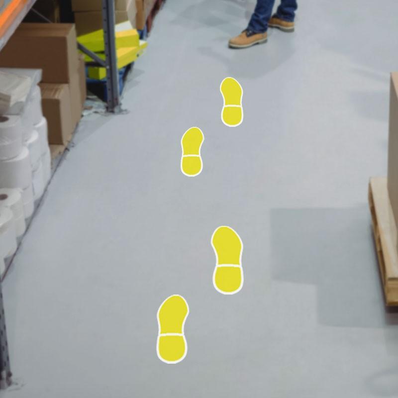 Shoe Print Κίτρινο