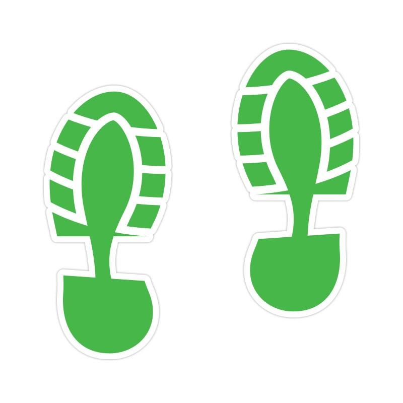 Shoe Print Πράσινο