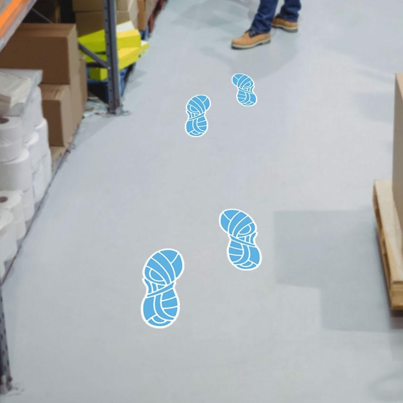 Αποτύπωμα Παπουτσιών Γαλάζιο