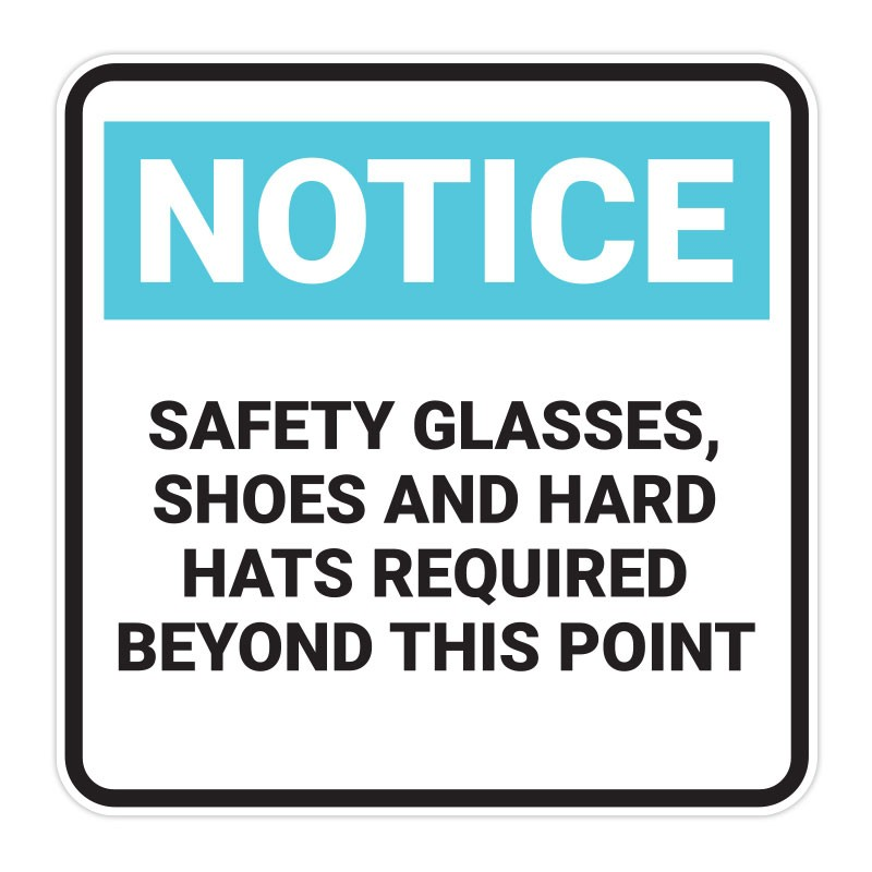 Safety Glasses, Shoes And Hats