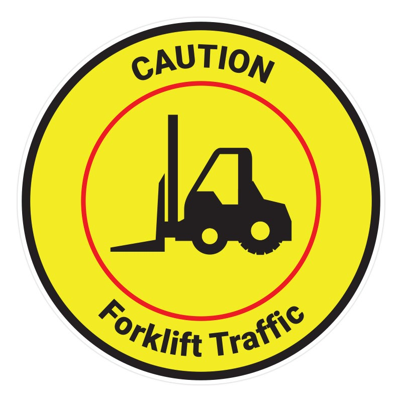 Caution - Forklift Traffic Red