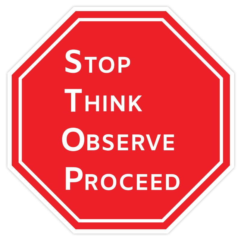 STOP-THINK-OBSERVE-PROCEED