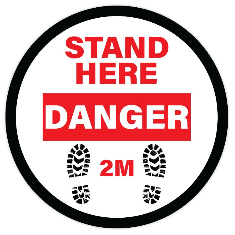 STAND HERE-DANGER
