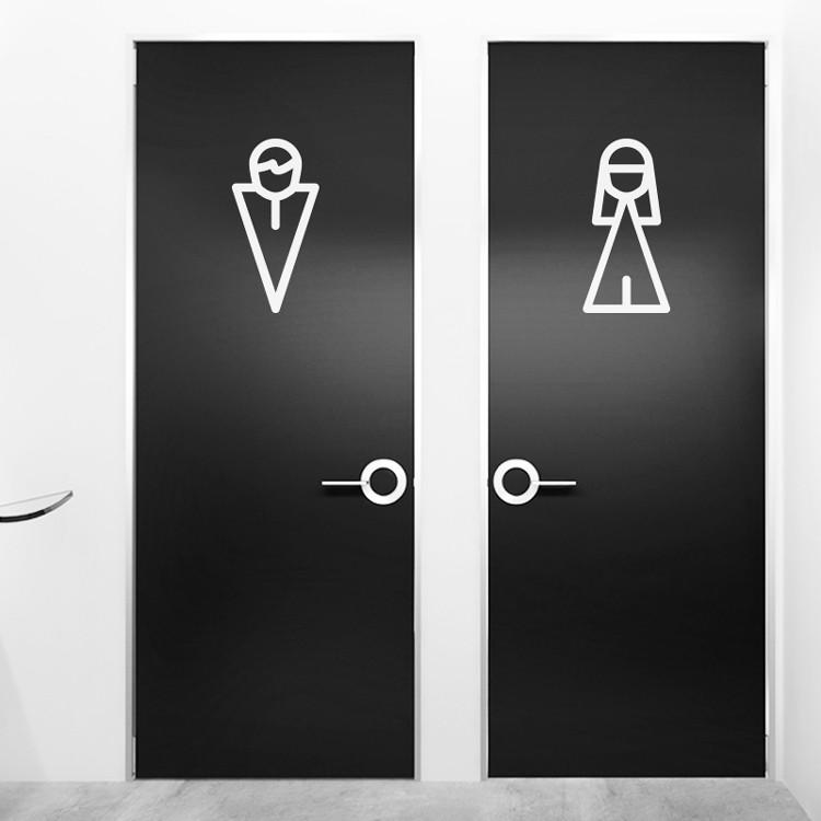 Minimal Restroom symbols