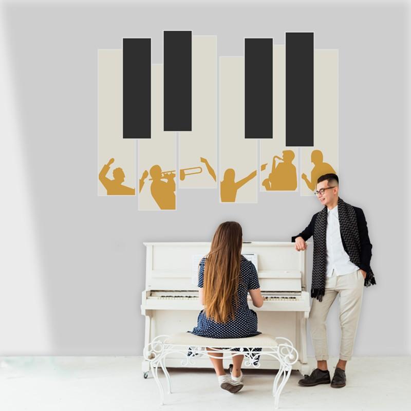 Αυτοκόλλητο Τοίχου - Πλήκτρα Πιάνου