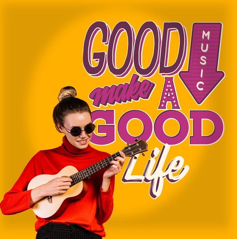 Αυτοκόλλητο Τοίχου - Good Music