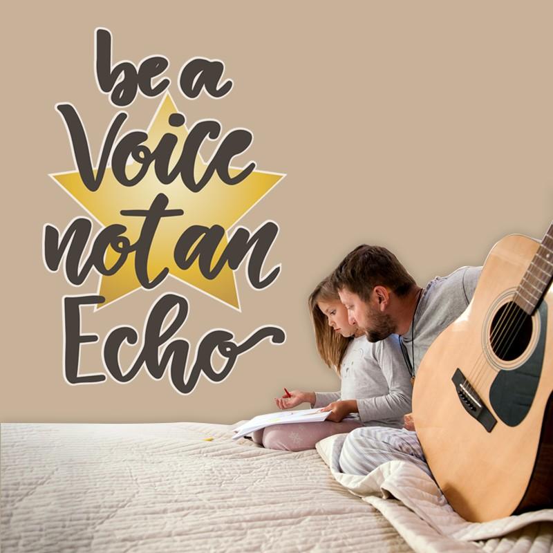 Αυτοκόλλητο Τοίχου - Be a Voice