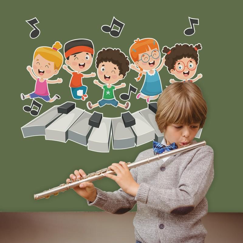 Αυτοκόλλητο Τοίχου - Παιδιά Τραγουδάνε