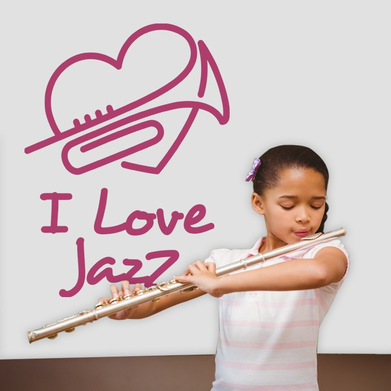 Αυτοκόλλητο Τοίχου - I Love Jazz