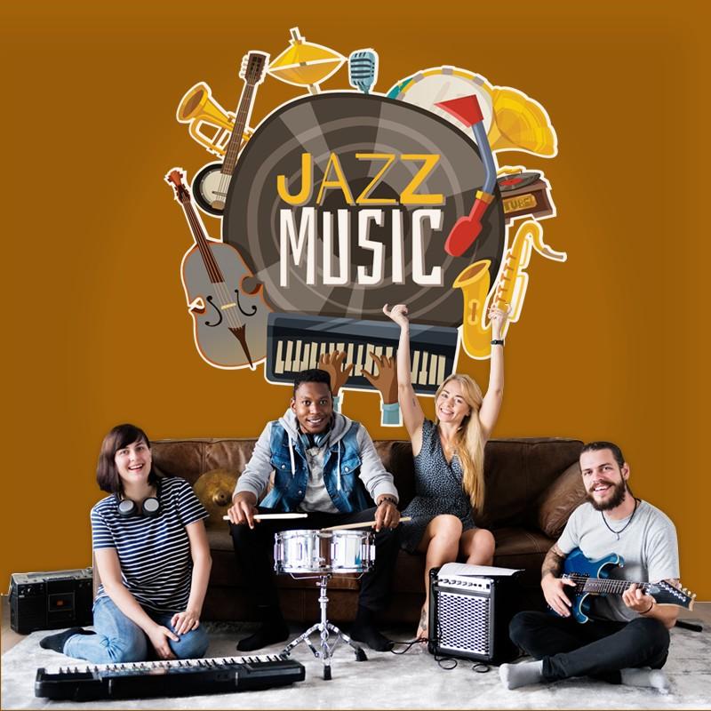 Αυτοκόλλητο Τοίχου - Jazz Music