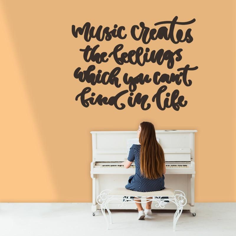 Αυτοκόλλητο Τοίχου - Music Creates...
