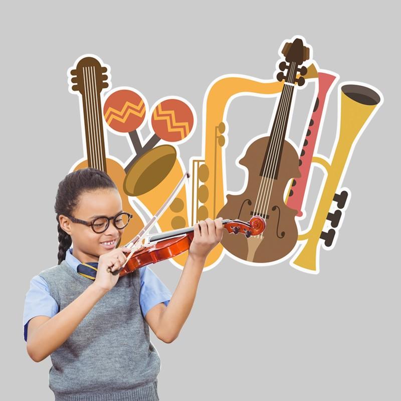 Αυτοκόλλητο Τοίχου - Μουσικά Όργανα