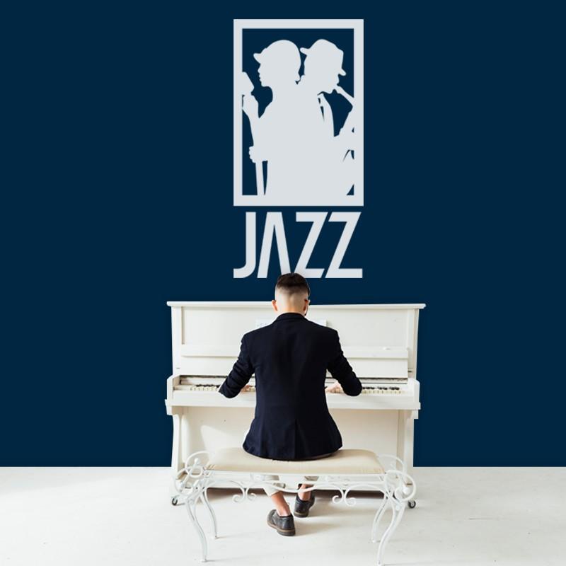 Αυτοκόλλητο Τοίχου - Jazz Μουσική
