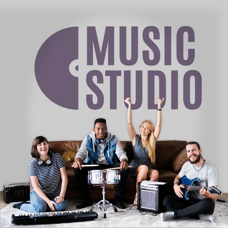 Αυτοκόλλητο Τοίχου - Music Studio