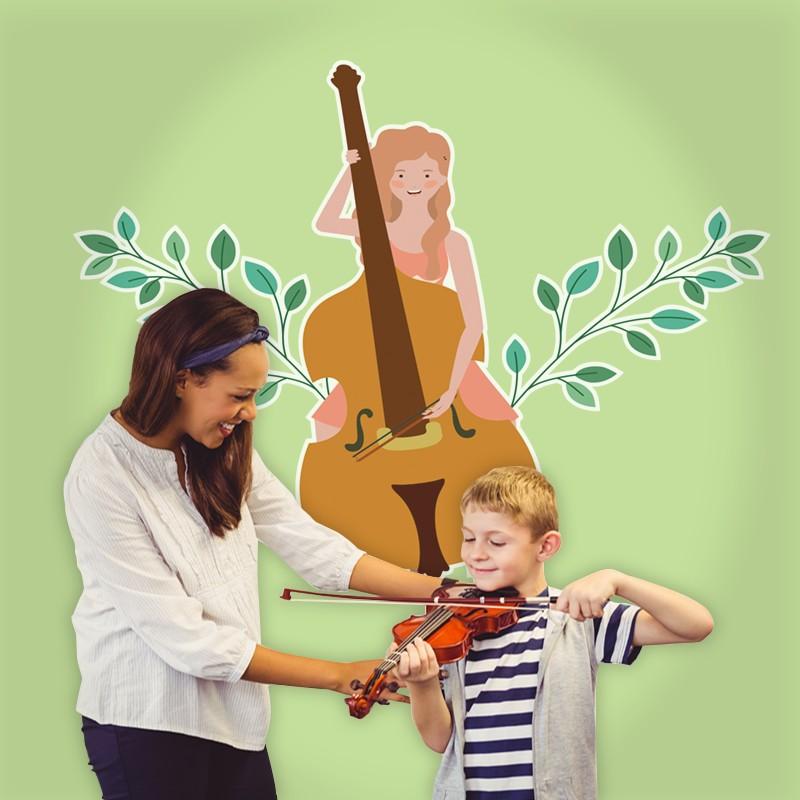 Αυτοκόλλητο Τοίχου - Μουσικός Βιολεντσέλο