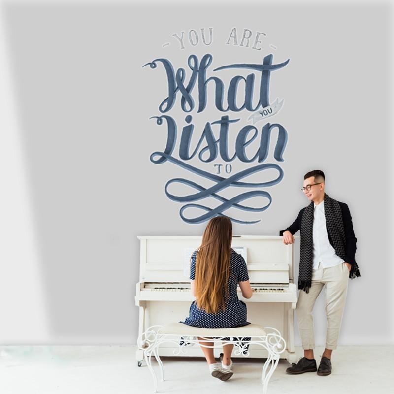 Αυτοκόλλητο Τοίχου - You are What you Listen to