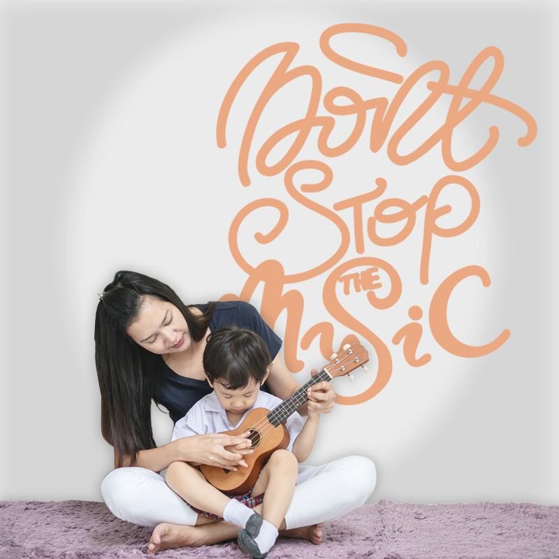 Αυτοκόλλητο Τοίχου - Never Stop The Music