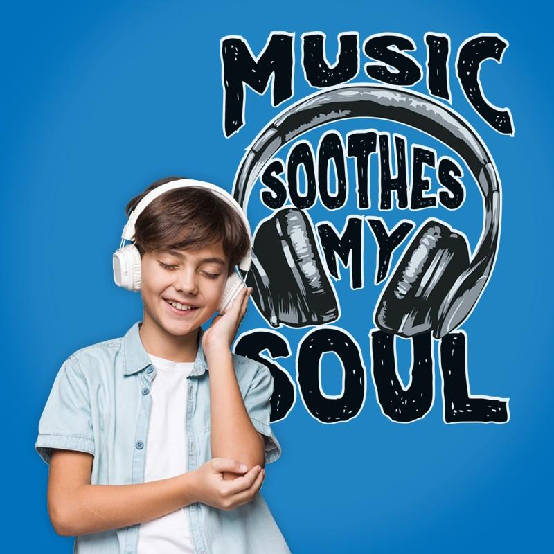 Αυτοκόλλητο Τοίχου - Music Soothes My Soul