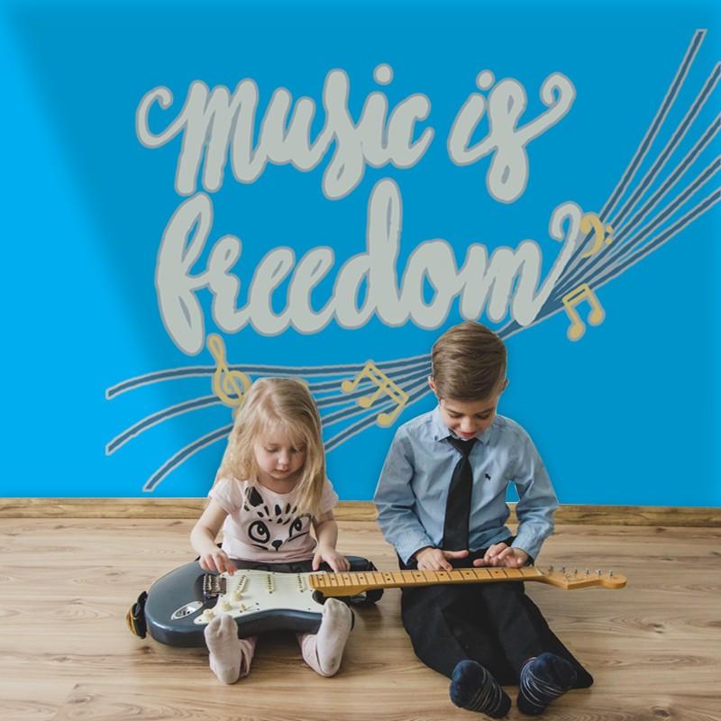 Αυτοκόλλητο Τοίχου - Music is Freedom