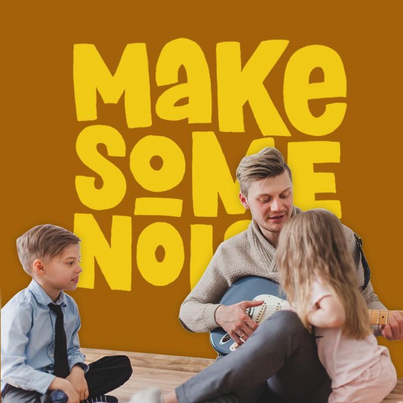 Αυτοκόλλητο Τοίχου - Make Some Noise