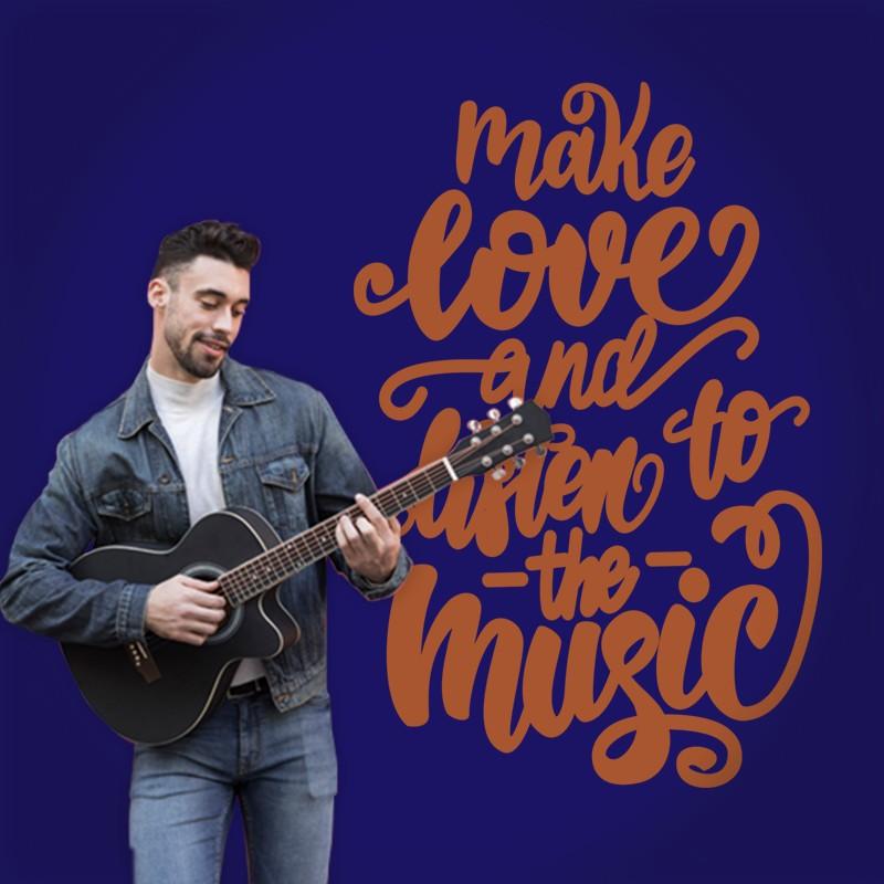 Αυτοκόλλητο Τοίχου - Make Love...