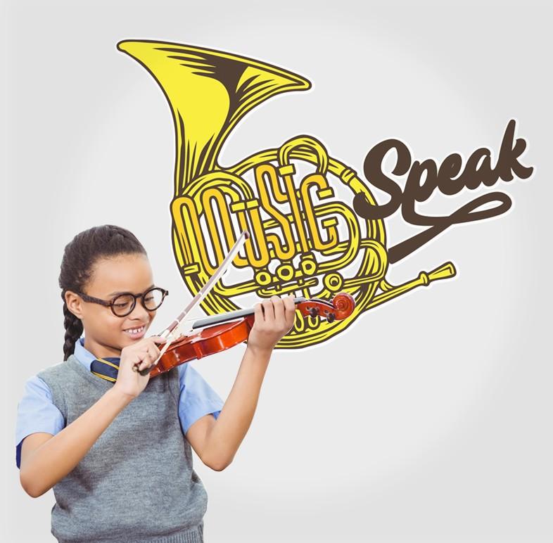 Αυτοκόλλητο Τοίχου - Music Speak