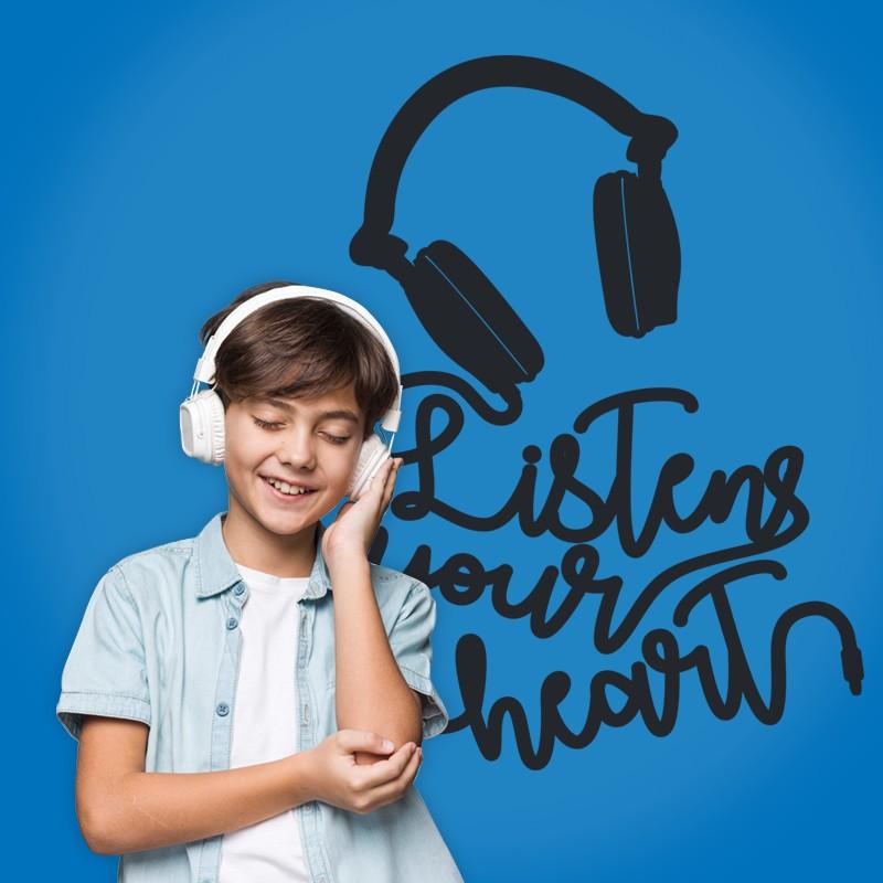 Αυτοκόλλητο Τοίχου - Listens Your Heart
