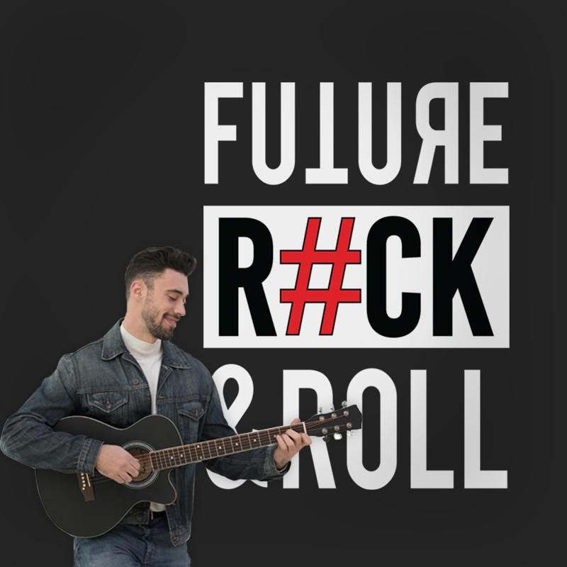 Αυτοκόλλητο Τοίχου - Future, Rock & Roll
