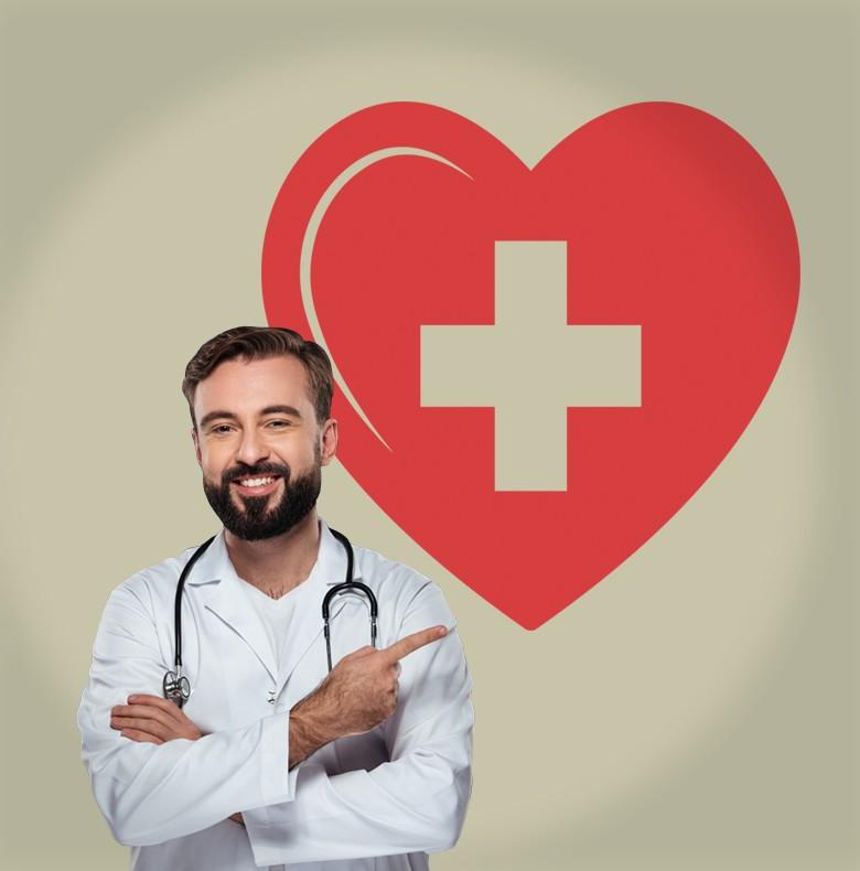 Αυτοκόλλητο Τοίχου - Καρδιά Σταυρός