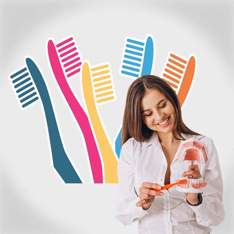 Αυτοκόλλητο Τοίχου - Οδοντόβουρτσες
