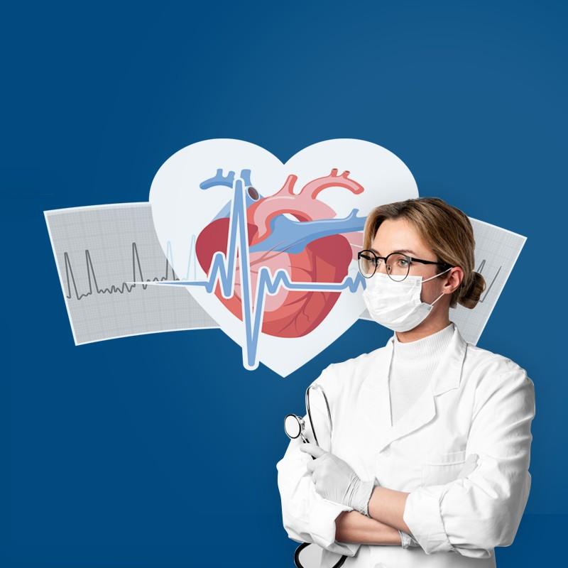 Αυτοκόλλητο Τοίχου - Καρδιογράφημα