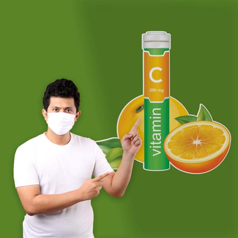 Αυτοκόλλητο Τοίχου -  Vitamin C