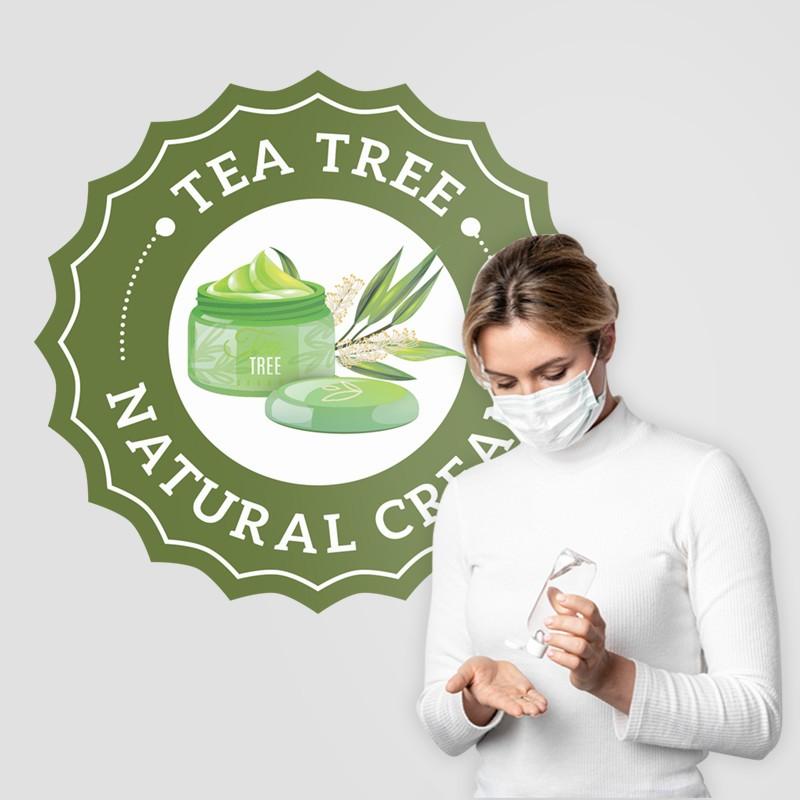 Αυτοκόλλητο Τοίχου - Tea Tree