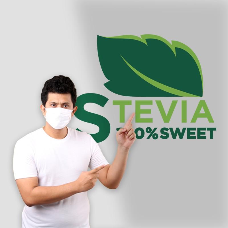Αυτοκόλλητο Τοίχου - Stevia 100% Sweet