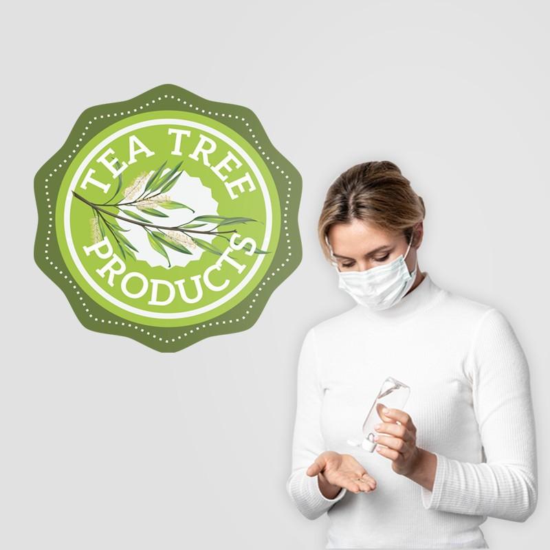 Αυτοκόλλητο Τοίχου - Tea Tree Products