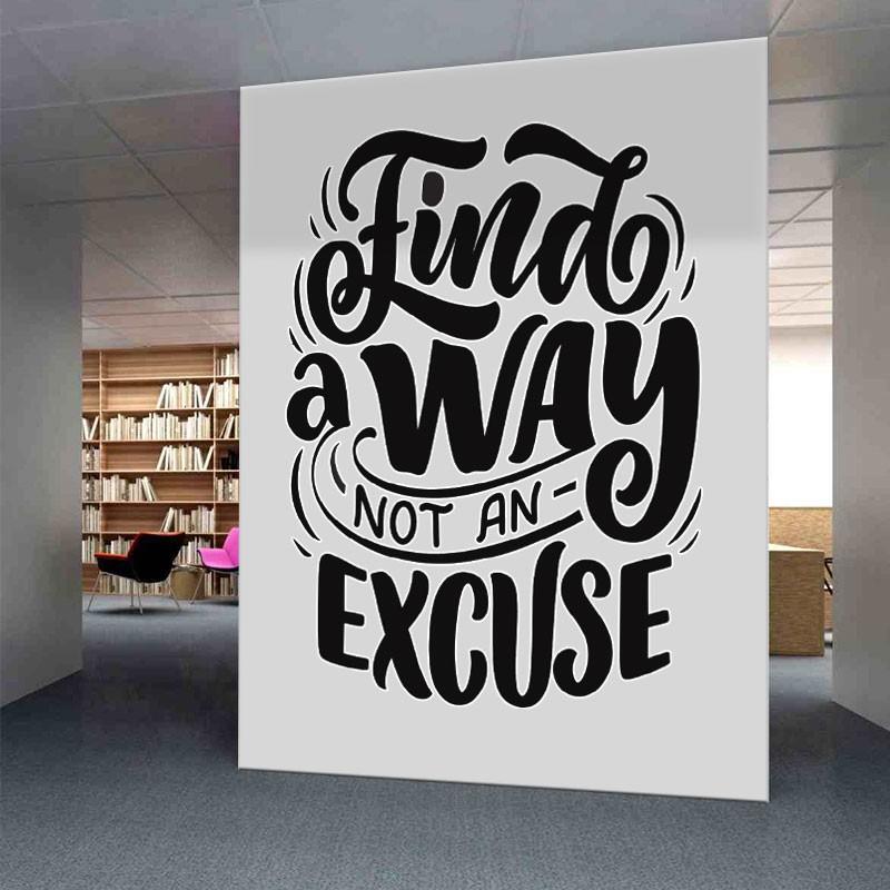 Αυτοκόλλητο τοίχου - Find a way
