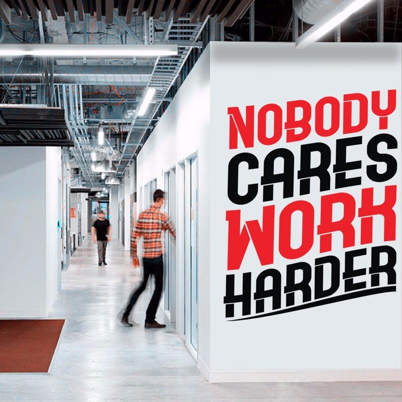 Αυτοκόλλητο τοίχου - Nobody cares..