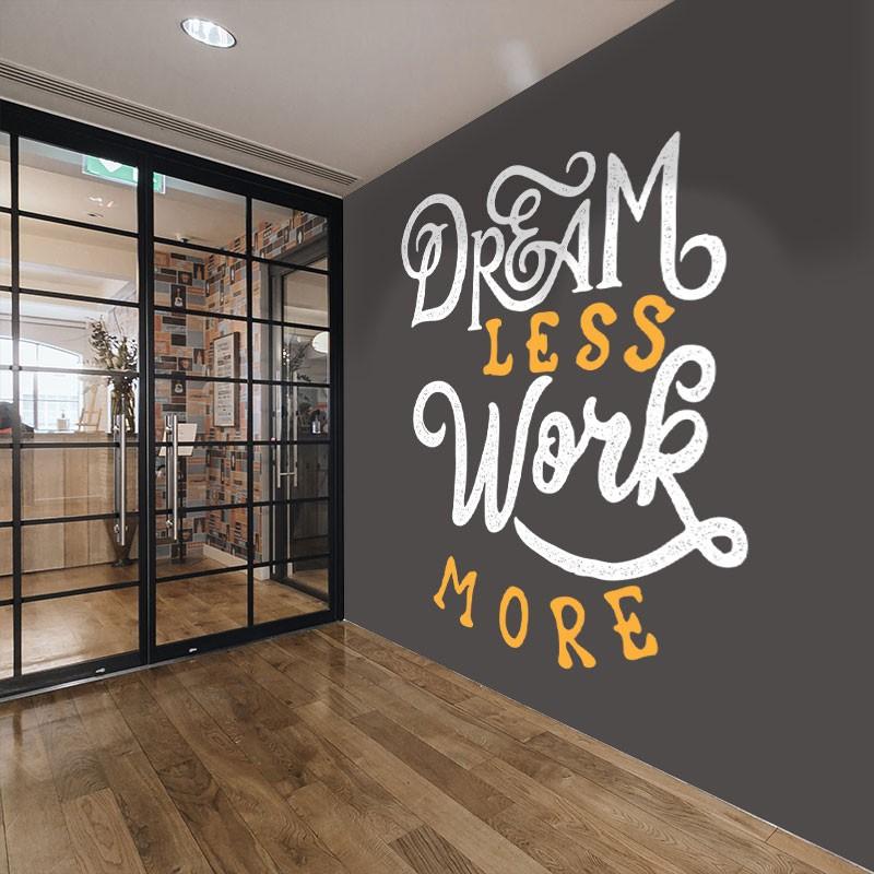Αυτοκόλλητο τοίχου - Dream less...