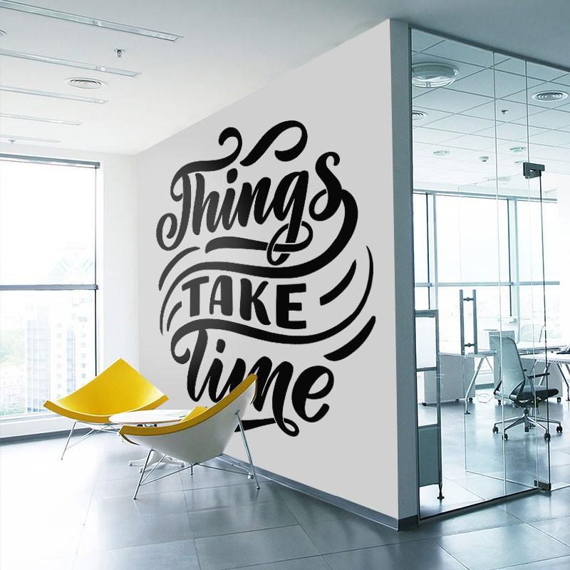 Αυτοκόλλητο τοίχου - Things take time