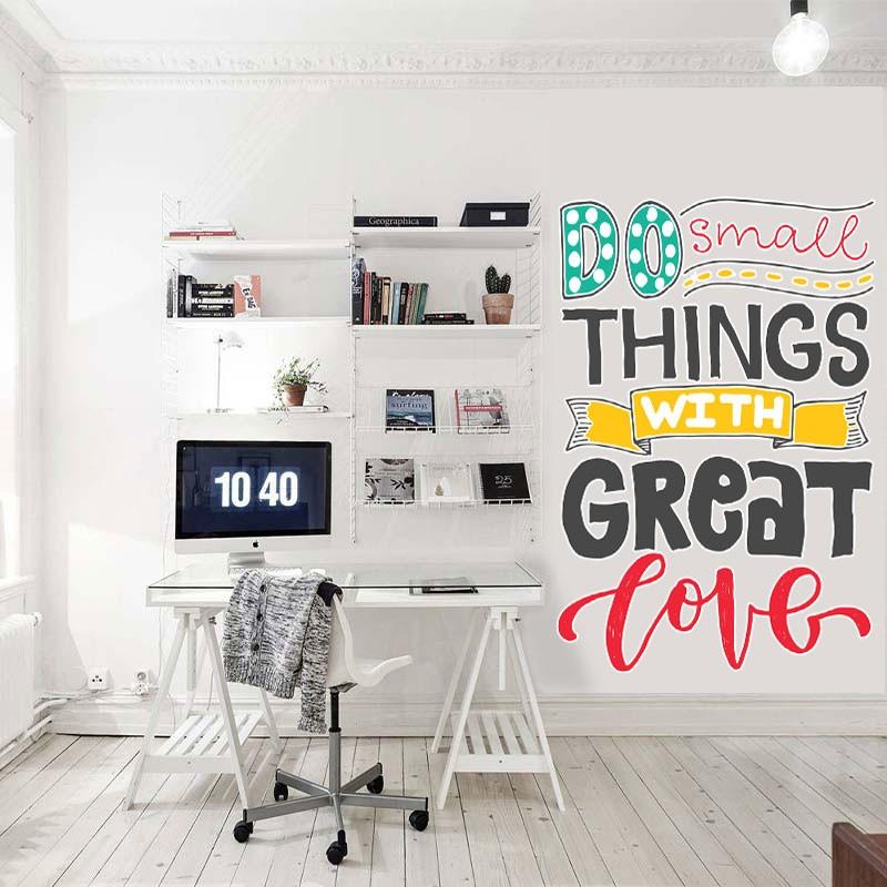 Αυτοκόλλητο τοίχου - Do small things