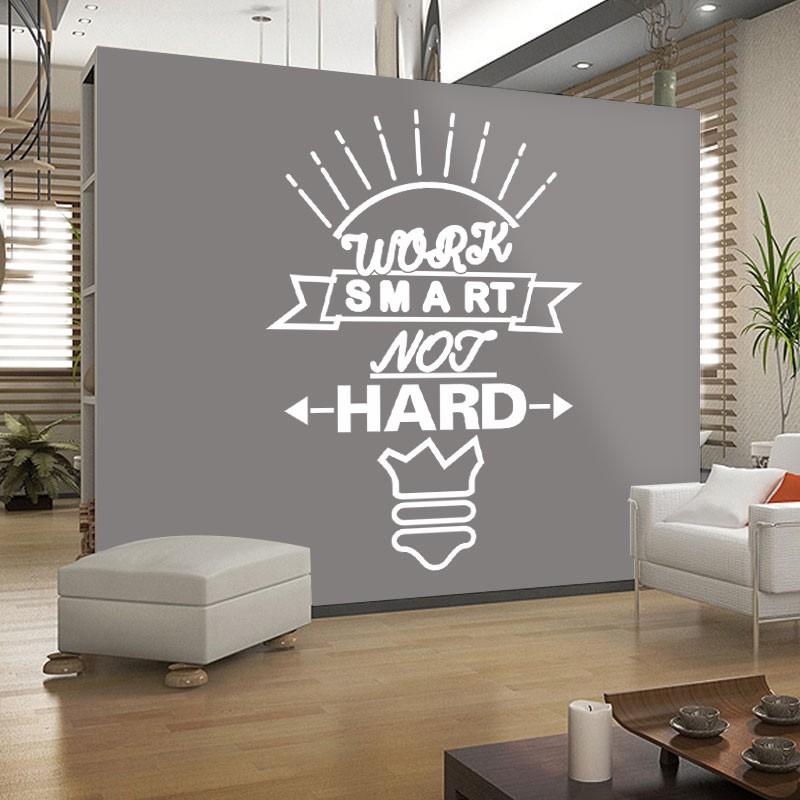 Αυτοκόλλητο Τοίχου - Work Smart