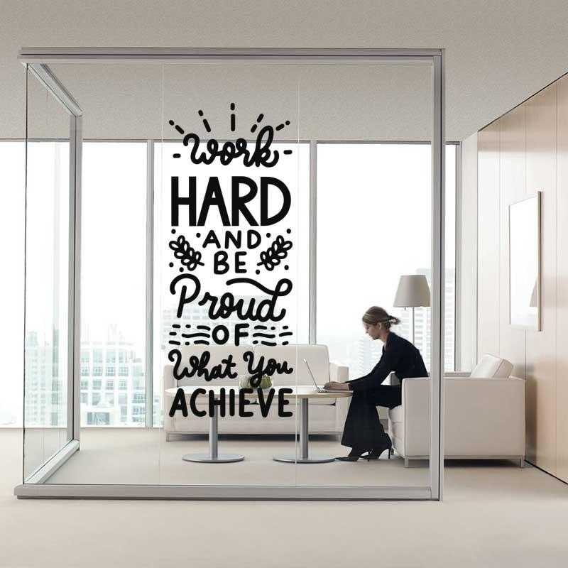 Αυτοκόλλητο Τοίχου - Work Hard