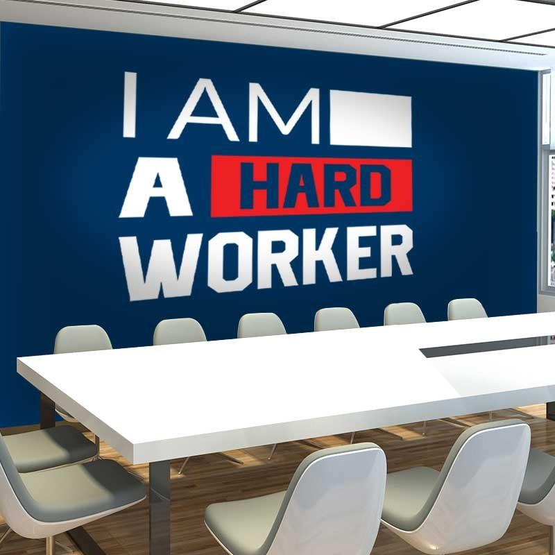 Αυτοκόλλητο Τοίχου - I Am Harder Worker